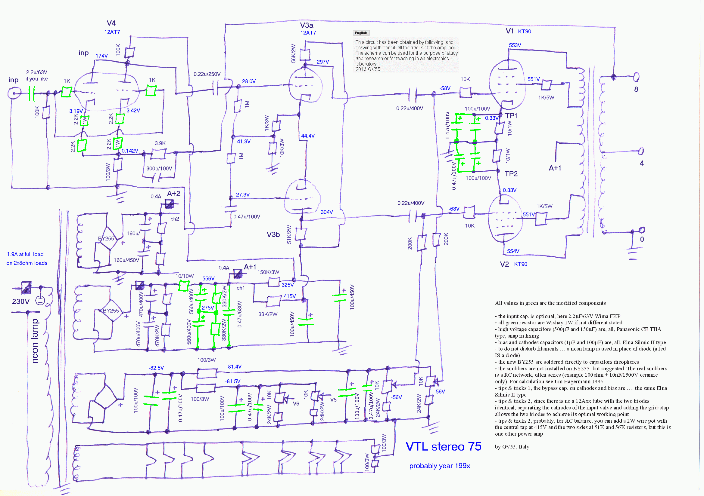 VTL stereo75 schematics mod dr g visco; official home page; hifi tubes rebuild, vtl stereo 75 75 Voltage Regulator Wiring Diagram at soozxer.org