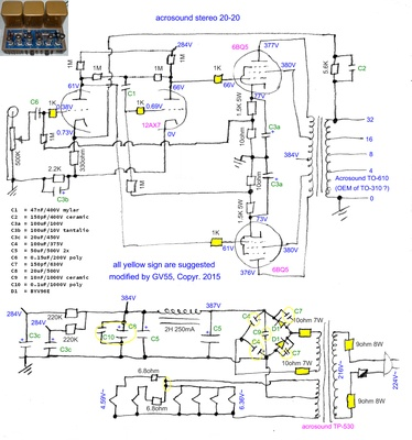 Dr. G. Visco; official home page; HiFi Tubes rebuild ... Quad Ii Schematic on