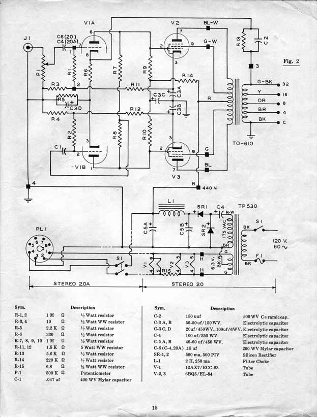 Acrosound Stereo 120 Schematic Smart Wiring Diagrams